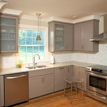 Taupe Kitchen Cabinets, Contemporary, kitchen, Twin Companies