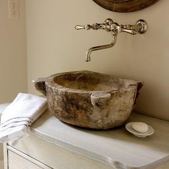 Antique Bowl Sink Transitional Bathroom Jennifer