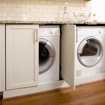 White Laundry Room Cabinets Traditional Laundry Room