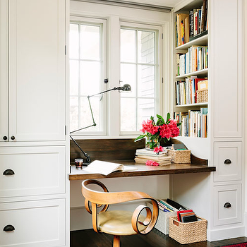 Floating Desk, Eclectic, den/library/office, Jessica Helgerson Interior Design