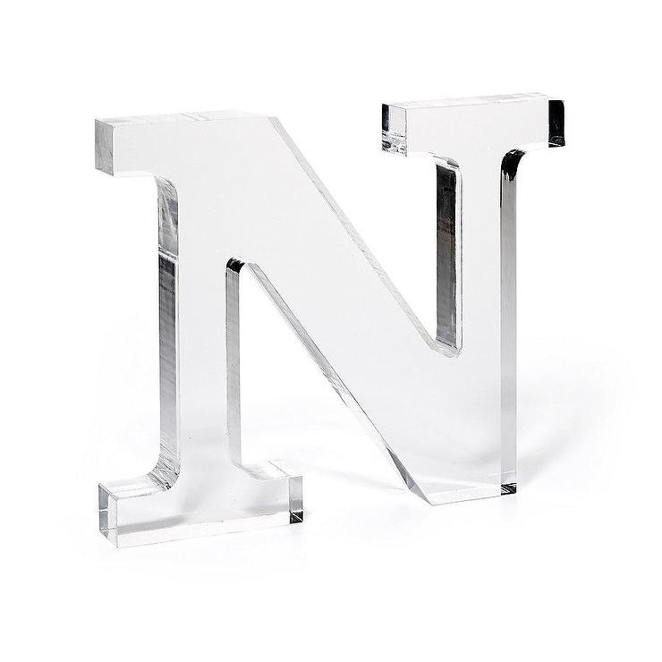 lucite clear monogram letter view full size