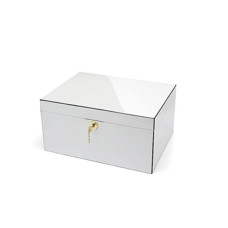 White Lacquer Jewelry Box