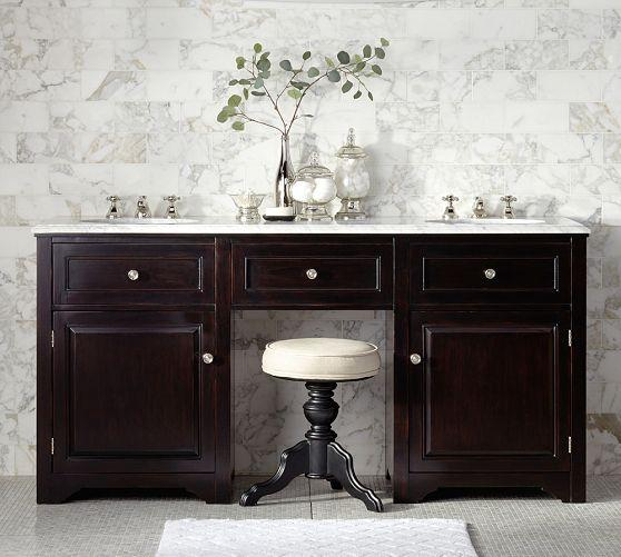 Apothecary Marble Single Sink Console