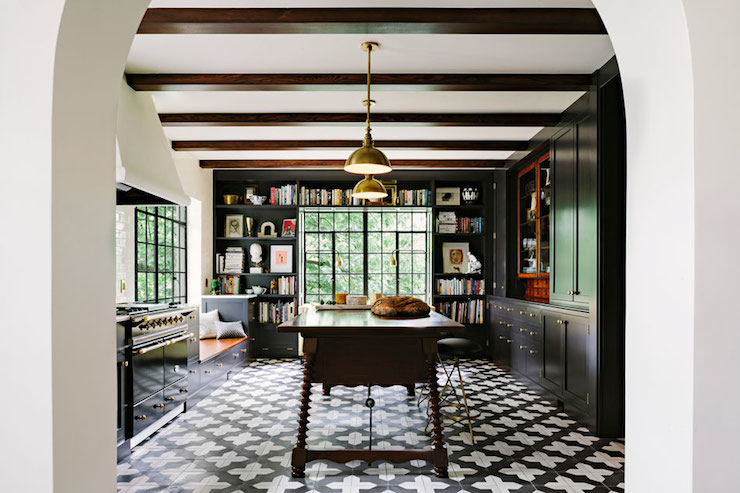 Black and White Floor Tiles  Eclectic kitchen Jessica
