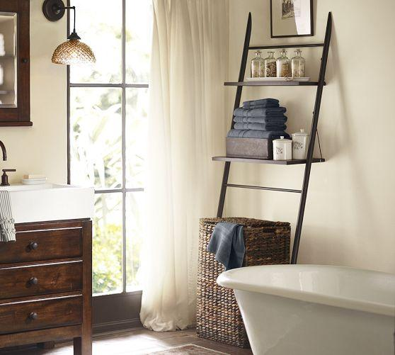 Rustic Over-the-Toilet Brown Etagere