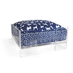 Jonathan Adler Lucite And Brass Dog Bed