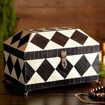 Harlequin Jewelry Box, Pottery Barn