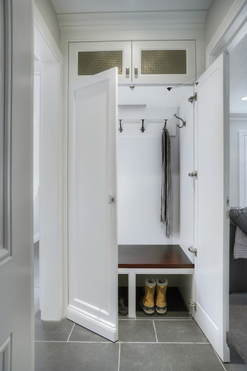 Mudroom Hidden Storage : Hidden mudroom transitional laundry room braams
