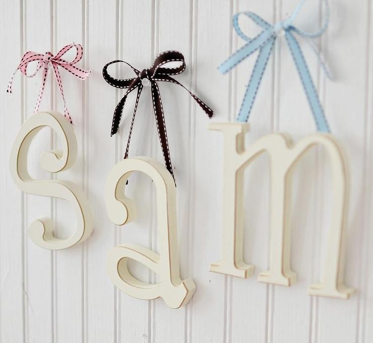 Small Wooden Ivory Letters