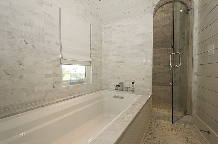White Marble Alternatives Modern Bathroom Aubrey