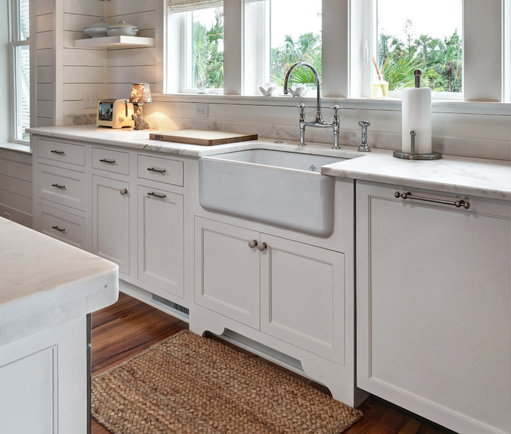 Honed Bianco Avion Marble Transitional Kitchen Kitchens Bath And Beyond