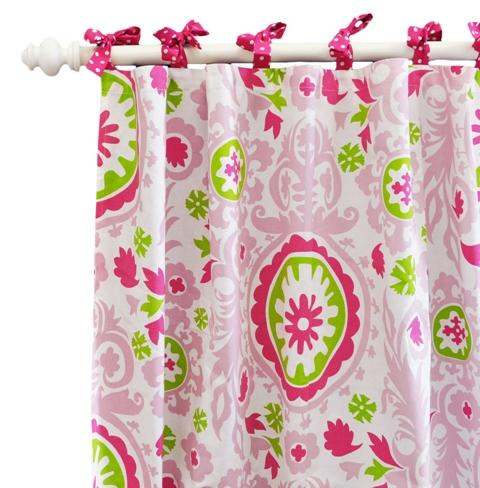 Dusty Pink Crinkled Stella Curtain