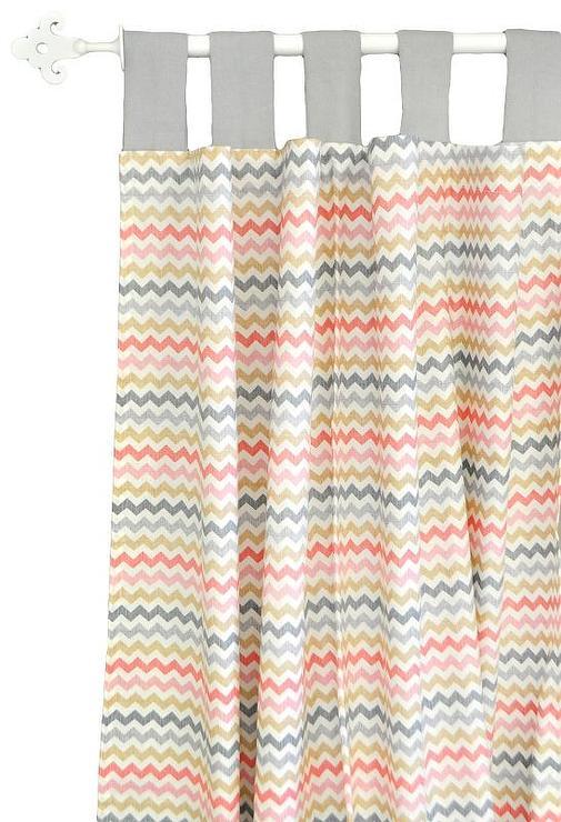 Cotton Canvas Zigzag Curtain Maize West Elm