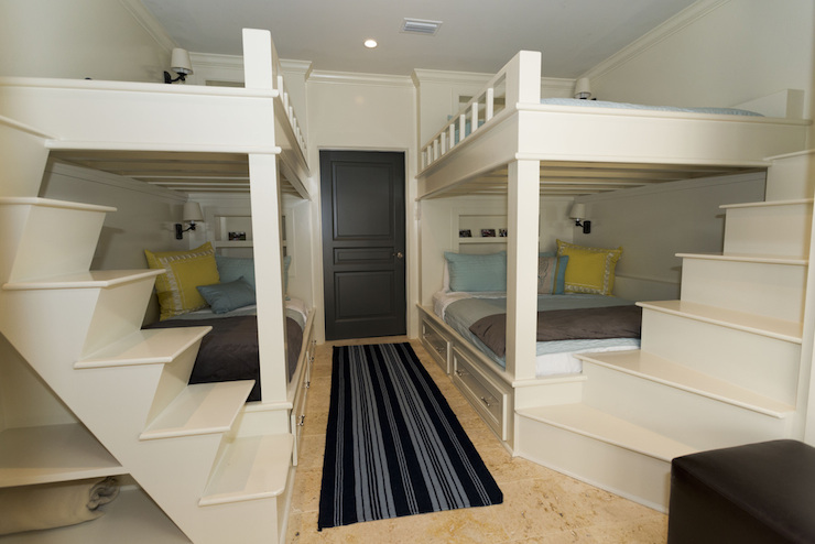 Bunk Beds with Built In Staircase Cottage Boy s Room