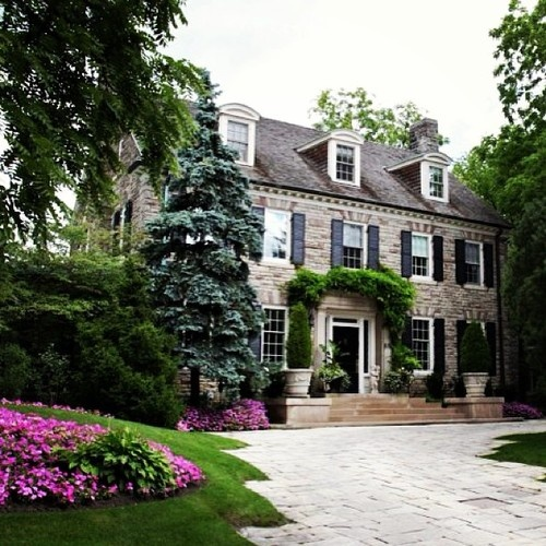 Stone Home Transitional Home Exterior