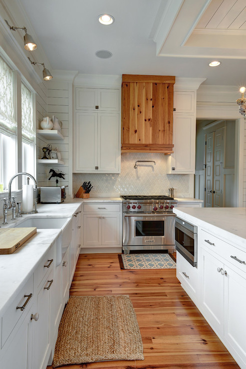 Pine Kitchen Hood Transitional Kitchen Kitchens Bath