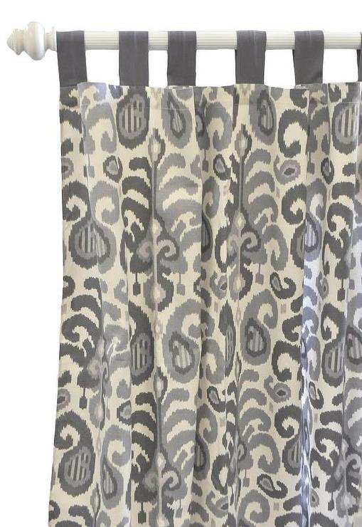 Urban Gray Ikat Curtain Panels View Full Size