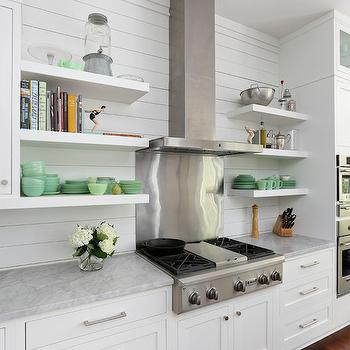 Floating Kitchen Shelves, Transitional, kitchen, Amy Trowman Design