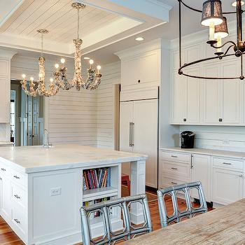 Butler 39 s pantry ideas cottage kitchen structures Shiplap tray ceiling