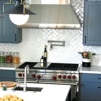 Chevron Kitchen Backsplash Design Ideas