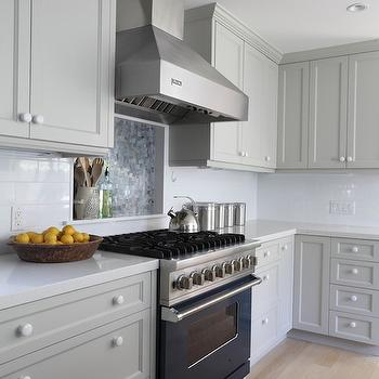 Blue Grey Kitchen Cabinets Design Ideas - Light blue grey kitchen cabinets
