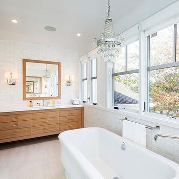 Bathtub With Marble Backsplash Design Ideas