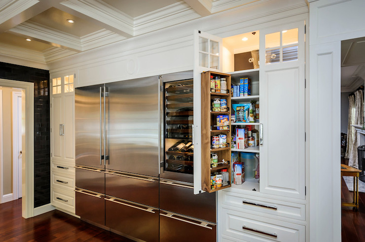 Built in pantry transitional kitchen leslie ann - Kitchen pantry cabinet design plans ...