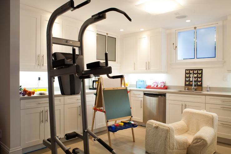 Basement kitchen transitional basement artthaus