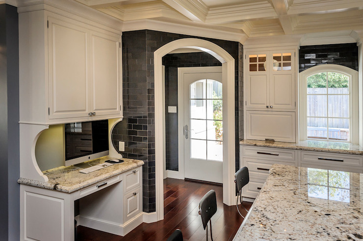 white ice granite countertops for a fantastic kitchen decor.htm microwave cubby transitional kitchen leslie ann interior design  microwave cubby transitional