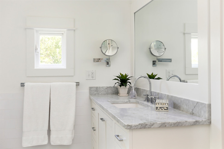 View Full Size Fabulous Bathroom With White