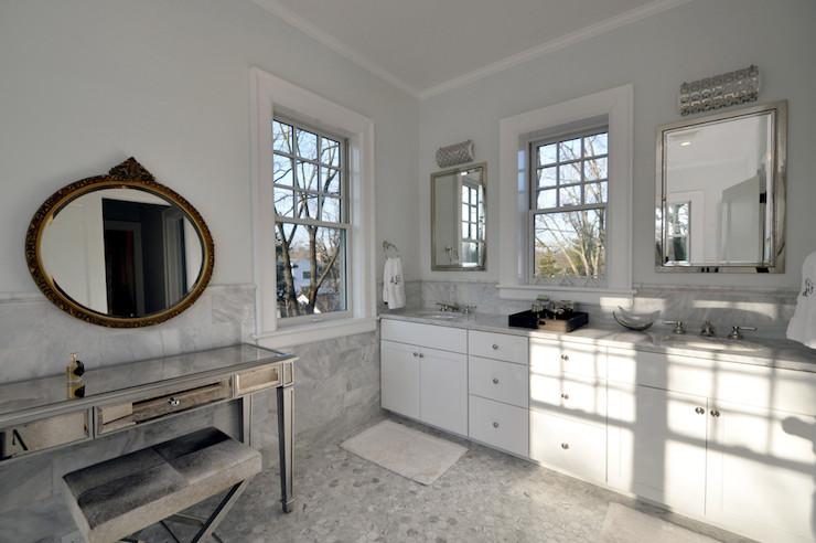 Black Washstand Transitional Bathroom Valspar Pale
