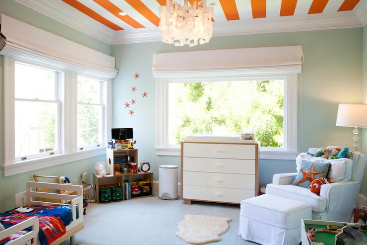 Striped Ceiling Contemporary Boy S Room Art Haus