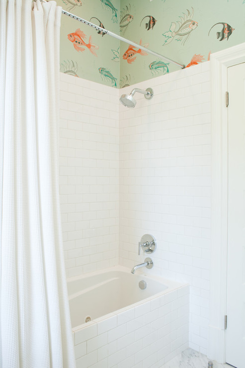 Tiled Bath And Shower Mark Reilly Architecture Kids Bathroom View Full Size