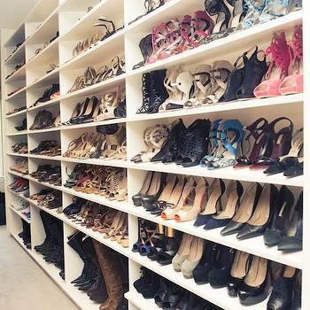 Full Wall Shoe Shelves