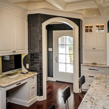 Ice brown Granite, Transitional, kitchen, Leslie Ann Interior Design
