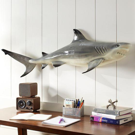 Shark Wall Art shark black wall decor