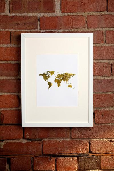 Gold world map print gumiabroncs Gallery