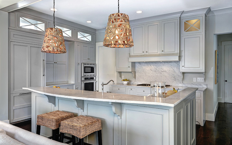 Gray Owl  Transitional  kitchen  Benjamin Moore Gray Owl  Jill Frey Kitchen Design
