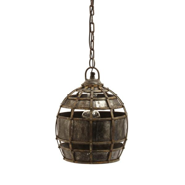 Round Fortress Bronze Pendant Light