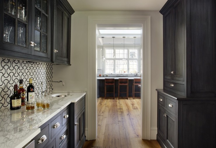 Black and White Backsplash - Contemporary - kitchen - Jewett Farms