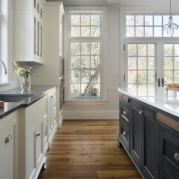 Built In Cutting Boards, Transitional, kitchen, Benjamin Moore Marscarpone, Jewett Farms