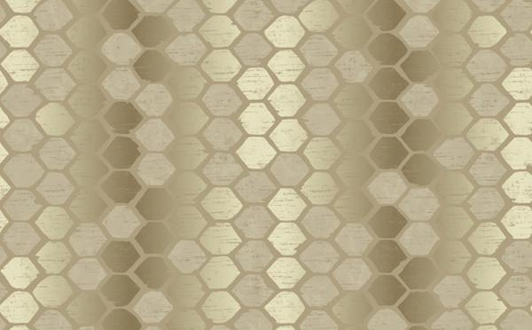 Abstract Geometric Silver Gold Wallpaper