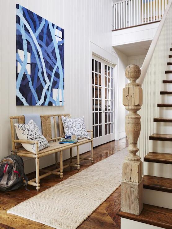 Beach House Foyer Ideas : Bleached oak floors cottage entrance foyer chango co