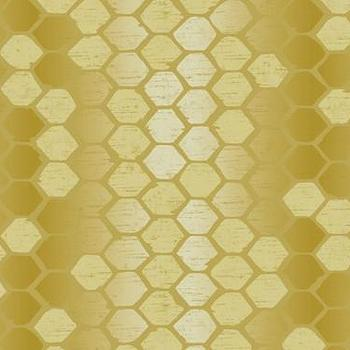 Abstract Geometric Wallpaper in Golds by Seabrook, Burke Decor