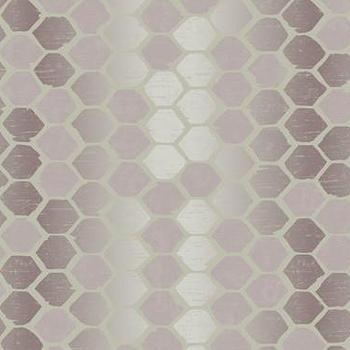 Abstract Geometric Wallpaper in Purples by Seabrook, Burke Decor
