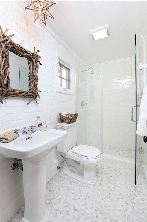 Driftwood Mirror - Cottage - bathroom