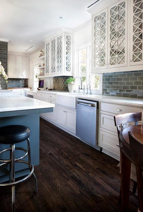 White And Gray Transitional Kitchen