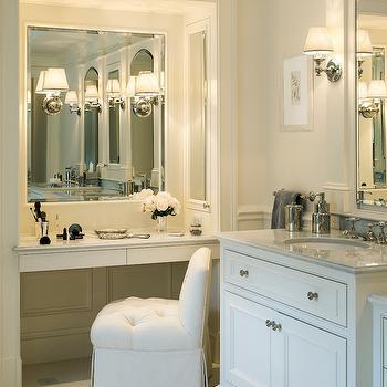 Built In Make Up Vanity, Traditional, bathroom, Jan Gleysteen Architects