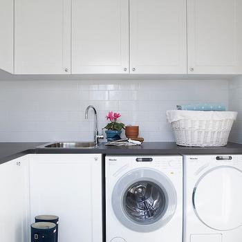 Off Set Laundry Room Faucet Design Ideas