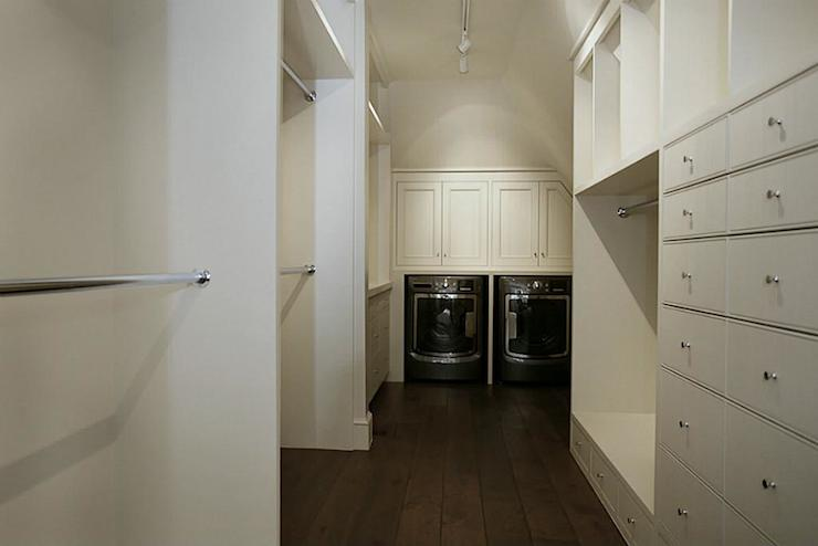 Sweet Master Bedroom Closet With Washer And Dryer